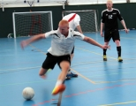 <h5>Player about to shoot for goal an action shot toward the camera</h5>