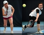<h5>Split frame photo of two tennis players</h5>