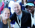 <h5>Brenda and Paul in a photo with Wheelchair Tennis Champion</h5>