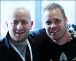 <h5>Paul and a Wheelchair Champion in a photo</h5>