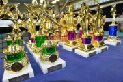 <h5>Tennis Trophies on a table</h5>