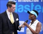 <h5>Brenda being interviewed at the wheelchair tennis championship 2014</h5>
