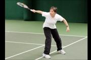 <h5>Tennis player returns the ball</h5>