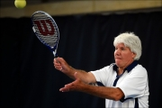 <h5>Roy Smith MBE Serving the Ball</h5>