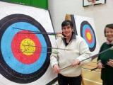 <h5>VI Archer at her target</h5>
