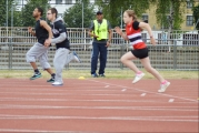 <h5>Under 18s Runners on the track  just after the starter gun has been fired</h5>