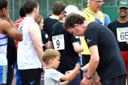 <h5>Organisers, guide runners and athletes getting ready for the Relay Event</h5>
