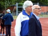 <h5>Roy Smith MBE on the edge of the track</h5>