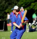 <h5>Batsman about to hit the ball hard</h5>