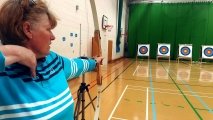 <h5>Archer's point of view down to the target</h5><p>Archer's point of view down to the target</p>