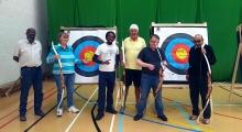 <h5>Archery Group photo with Coach Louis John</h5><p>Archery Group photo with Coach Louis John</p>