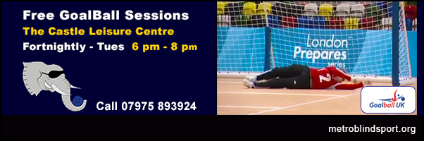 Free Goalball Fortnightly on Tuesdays