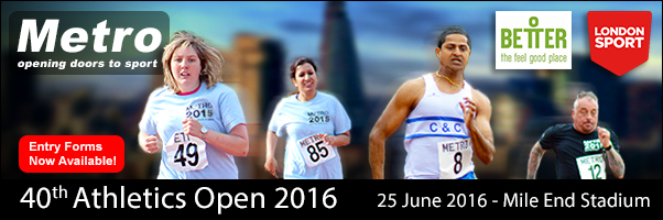 Metro 40th Athletics Open 2016 with Better and London Sport