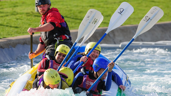 White Water Rafting: Lean and Paddles to the Left