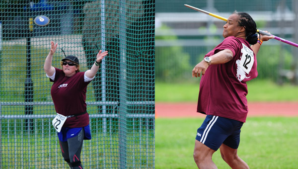 Discus and Javalin throwers at the Athletics Open