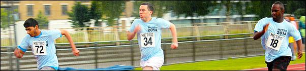 Mens Track event Metro Athletics Open 2014