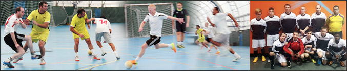 montage Photo banner for Blind football and futsal - football for blind and partially sighted people