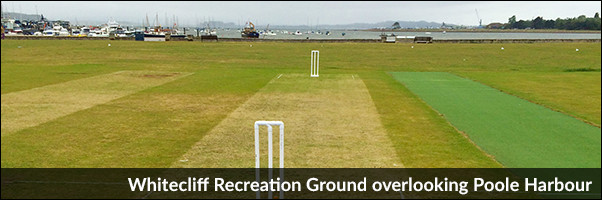 Whitecliff Recreation Ground overlooking Poole Harbour