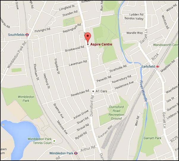 Aspire centre Archery Location Map