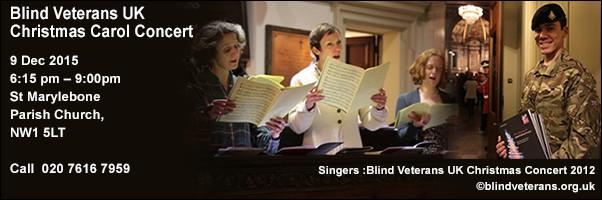 Blind Veterans UK Christmas Carol Concert