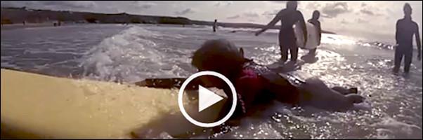 Three VIPs go Surfing! Video