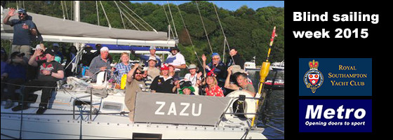 Party on the Boat - Blind sailing week 2015
