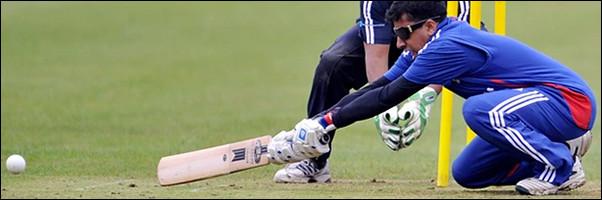 Hassan Khan batting for England against Australia
