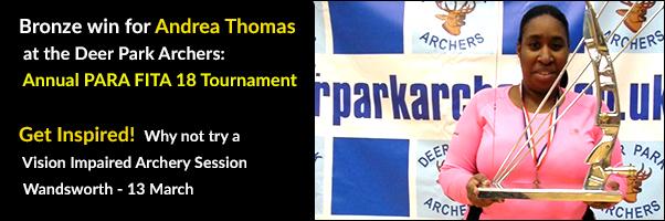 Andrea Thomas wins Bronze at Annual PARA FITA 18 Tournament