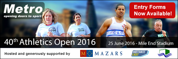 Entry Forms Now Available for-the 40th Metro Athletic Open 2016