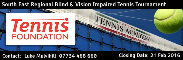 South East Blind & Vision Impaired Regional Tennis Tournament 2016