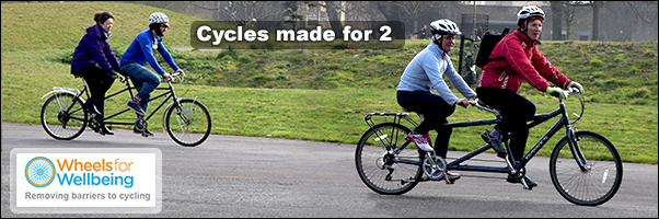 Cycles made for 2 - Tandem Cycling with Wheels for Wellbeing