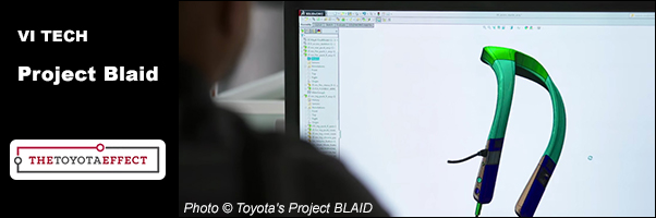 Project Blaid -Toyota's wearable for the blind sees the world through cameras