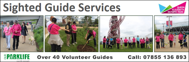 Sighted Guides Services at the Queen Elizabeth Olympic Park