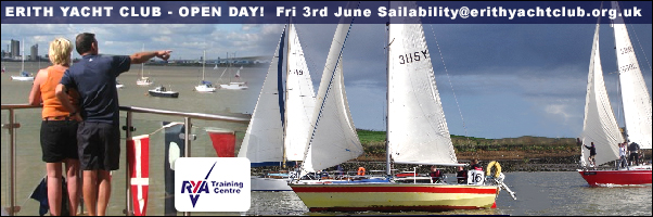 ERITH YACHT CLUB open day Friday 3rd June 2016