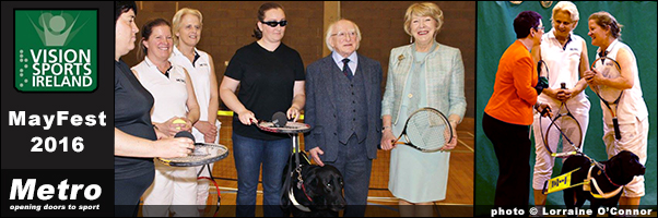 Metro introduce Blind Tennis to the Dublin Mayfest 2016
