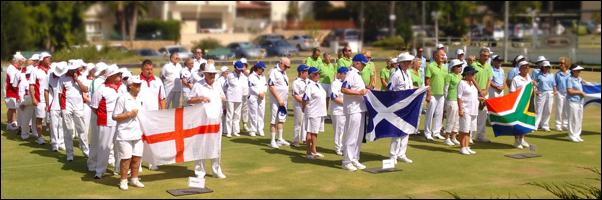England VI Bowls team in Israel