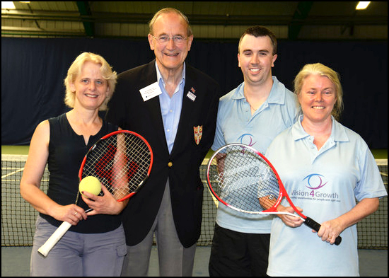 Cambridge tennis tournament for blind and visually impaired players