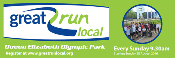 Great Run Local - every Sunday from 28 Aug 2016