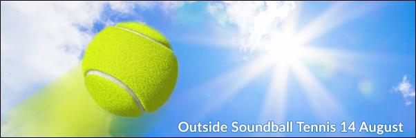 Outside Soundball Blind Tennis at Highgate 14 August