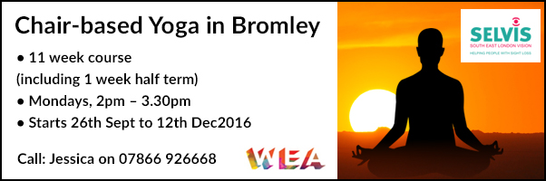 New Chair-based yoga in Bromley