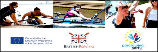 Para-rowing party at the Royal Albert Dock on the 2 Oct
