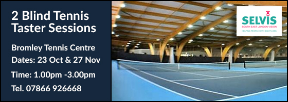 New VI Tennis taster sessions - Bromley Tennis Centre