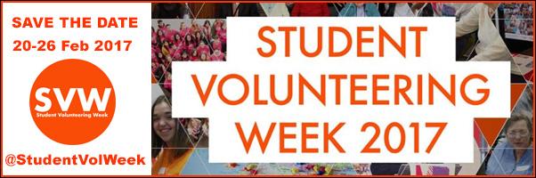 Student Volunteering Week, 20-26 Feb