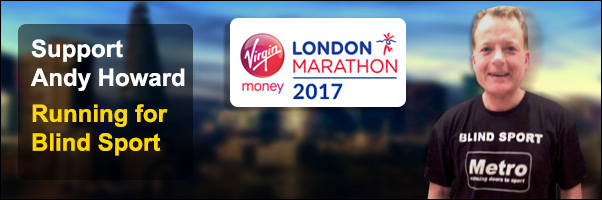 Support Andy Howard Running for Blind Sport