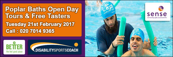 Poplar Baths FREE taster day for people with a Sensory Impairment or Complex Need