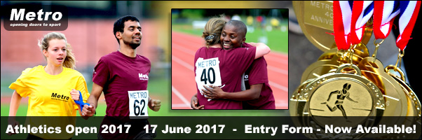 Athletics Open 2017 17 June 2017 - Entry forms Now availabl