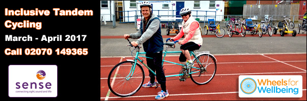 Odette Recommends Inclusive Tandem riding at the Croydon Arena