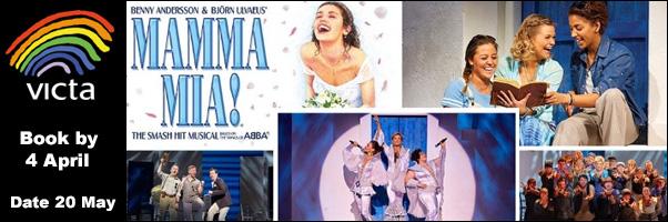 Mamma Mia at Milton Keynes Theatre - book by 4 April with VICTA!