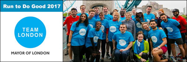 Run to Do Good 2017 with Team London Mayor of London