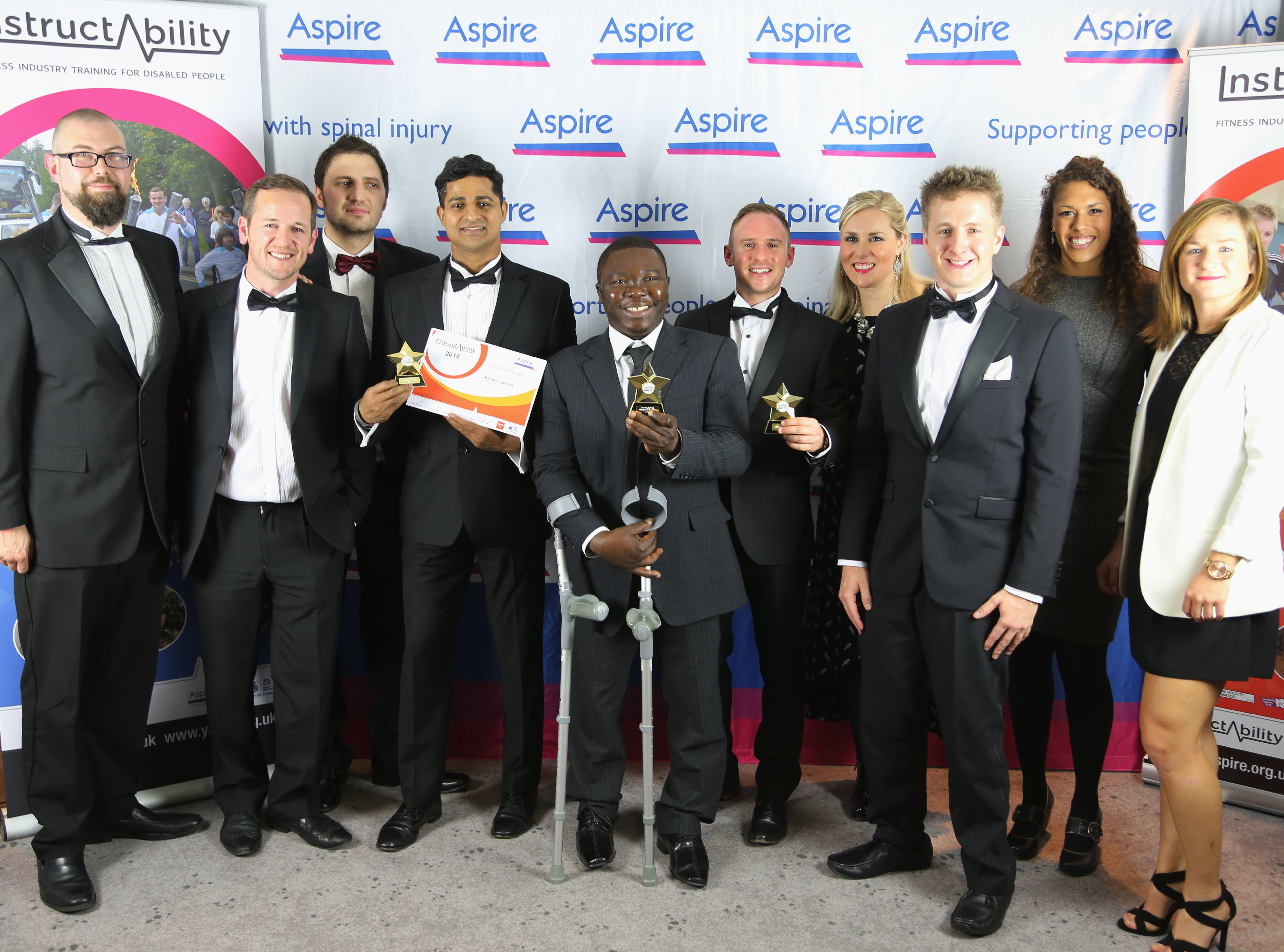 GLL staff and InstructAbility graduates at 2016 InstructAbility Awards